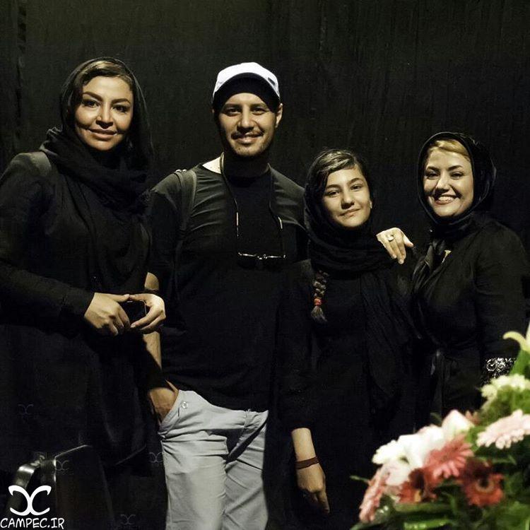 سارا بهارلو با مادرش و جواد عزتی و همسرش