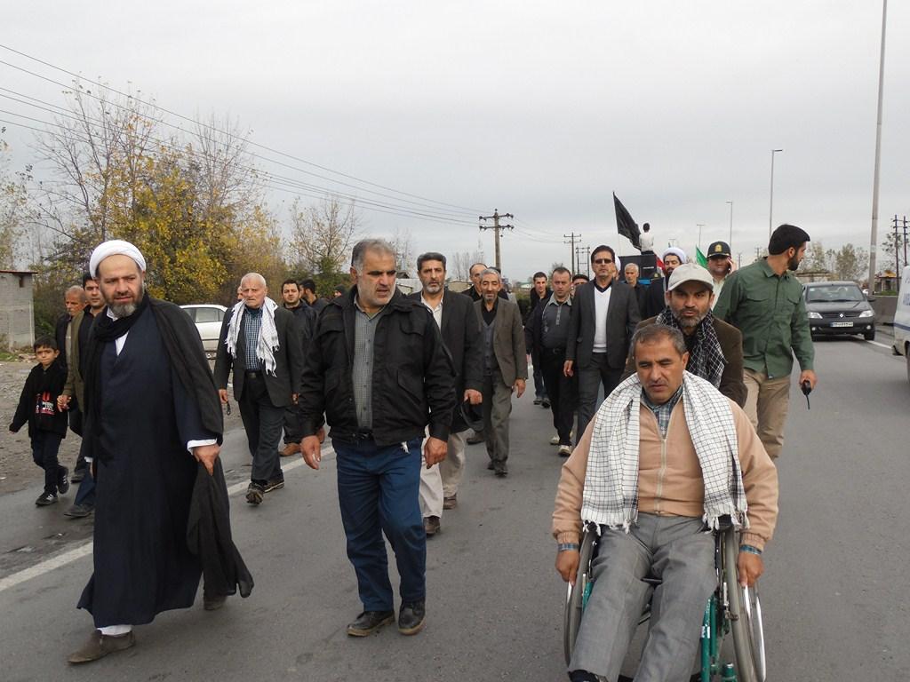 راهپیمایی بزرگ حرم تا حرم دراربعین حسینی (آمل)