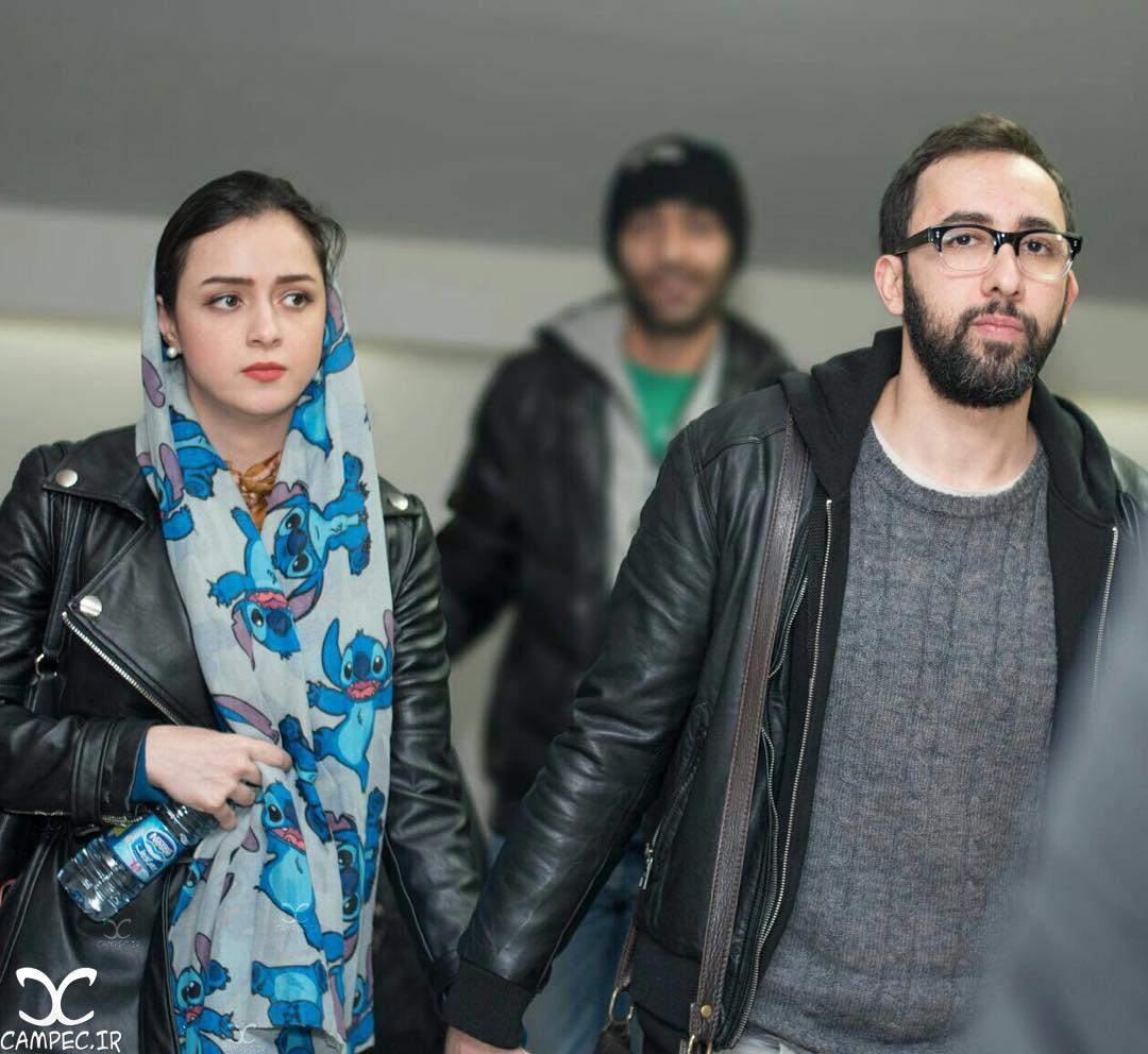 ترانه علیدوستی با همسرش علی منصور