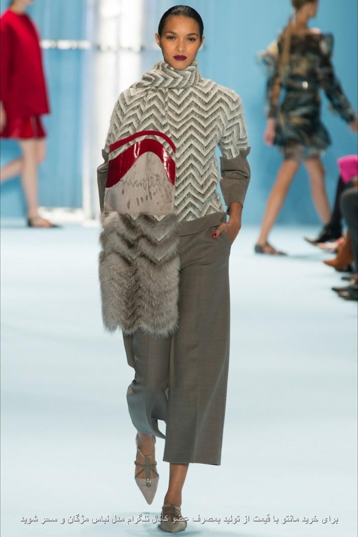 مدل لباس بافتنی پلیور و ژاکت دخترانه و زنانه با شال گردن خز