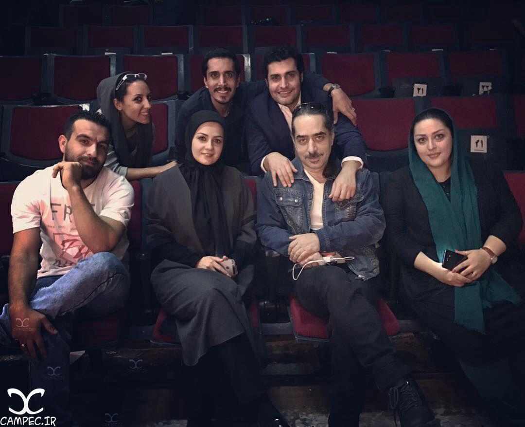 بیتا سحرخیز و امیر محمد زند سر صحنه مجموعه ماه و پلنگ