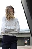 مدل ژاکت بافتنی زنانه با رنگ فیلی