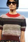 مدل ژاکت بافتنی زنانه رنگارنگ جلو بسته