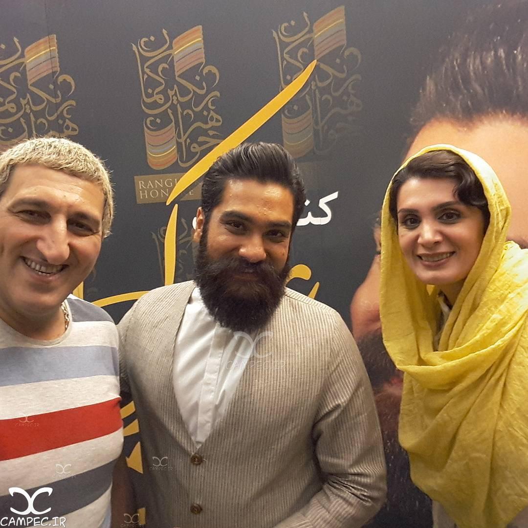یوسف صیادی با همسرش و علی زند وکیلی