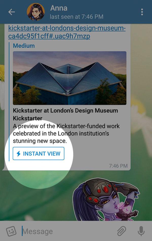 مشاهده سریع در تلگرام
