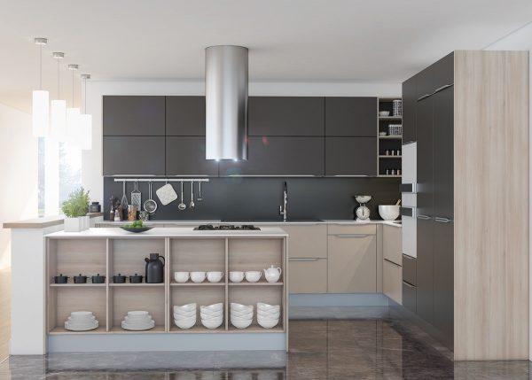 کابینت خاکستری در آشپزخانه4