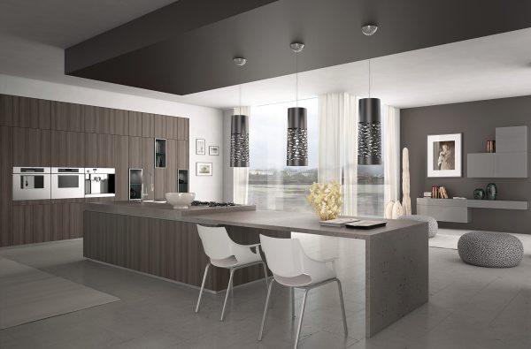 کابینت خاکستری در آشپزخانه6
