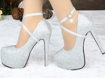 مدل کفش پاشنه  بلند شیک عروس سری 10