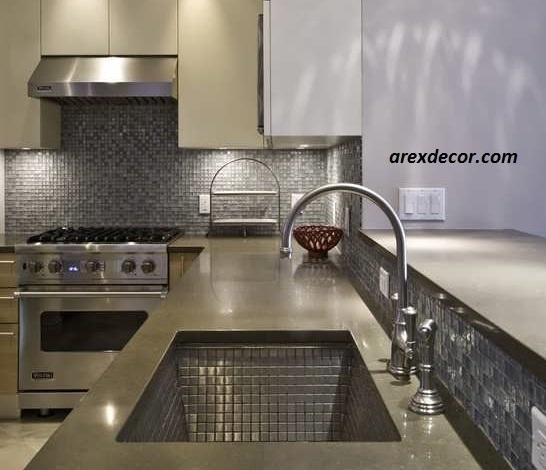 تایل آلومینیومی در دکوراسیون آشپزخانه image