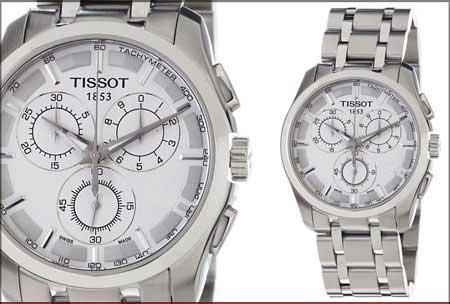 ساعت صفحه سفید تیسوت مردانه tissot