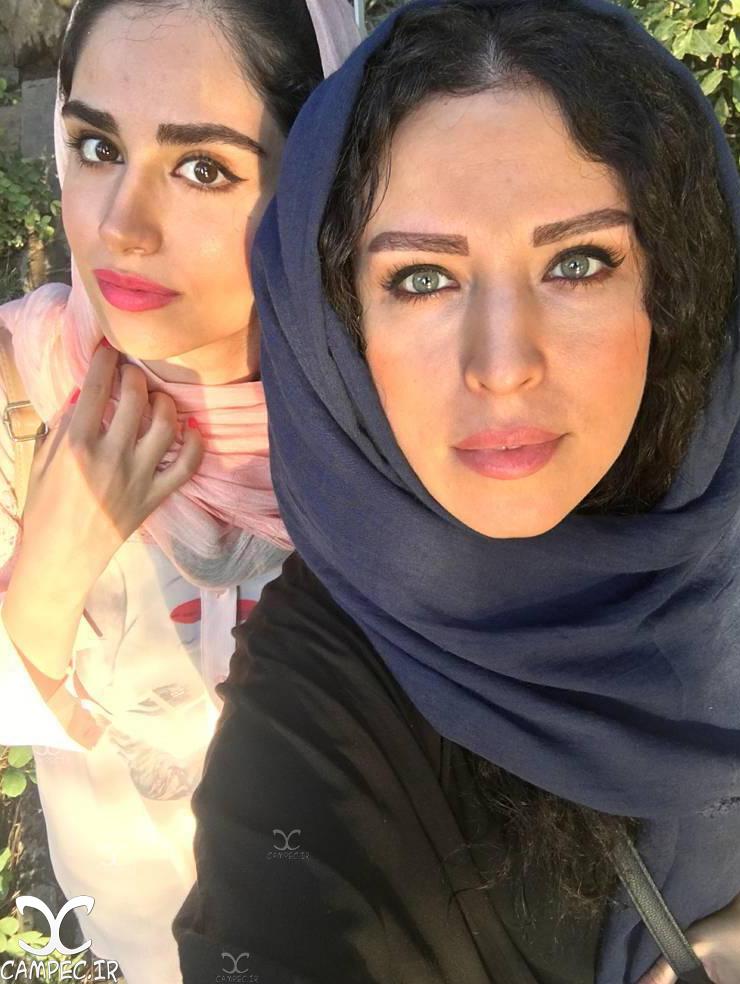 لادن سلیمانی و دخترش هانیه غلامی