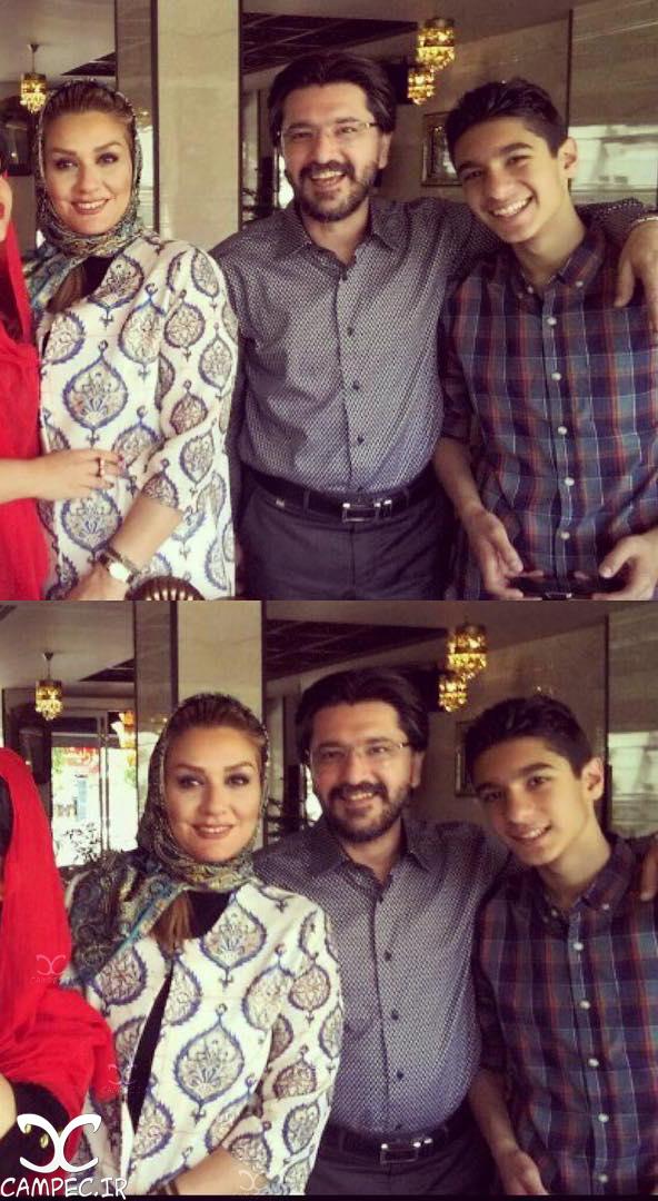 امیر حسین مدرس با همسر و پسرش