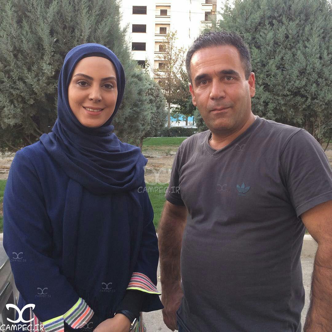 نیلوفر شهیدی در پشت صحنه سریال لیسانسه ها