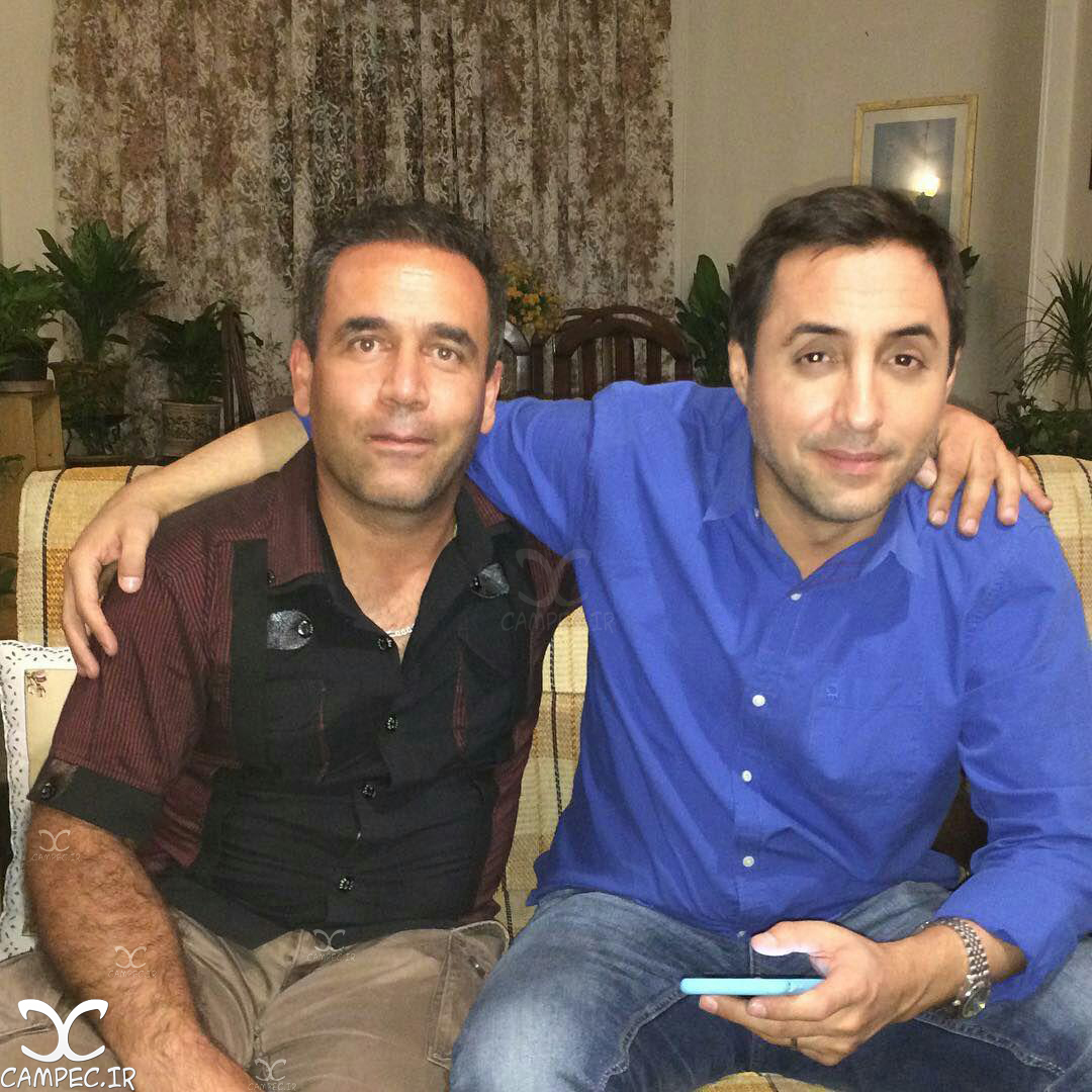 امیر حسین رستمی در پشت صحنه سریال لیسانسه ها