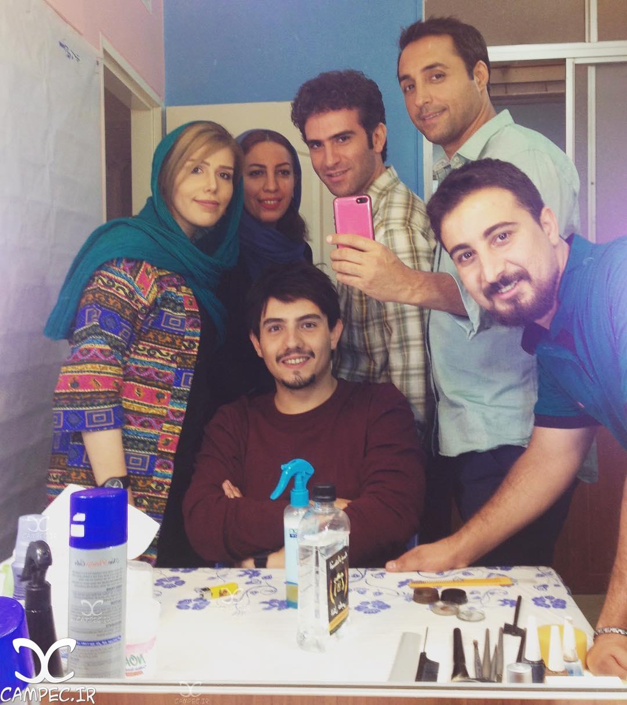 امیر کاظمی در اتاق گریم سریال لیسانسه ها