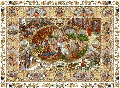 فرش بهارستان عجوبه ی هنر قالیبافی ایران