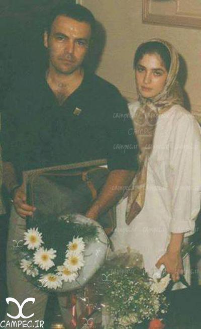 عکس قدیمی فریبرز عرب نیا با همسر سابقش عسل بدیعی