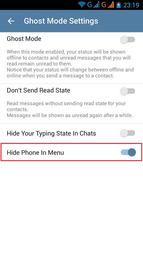 مخفی کردن شماره در تلگرام
