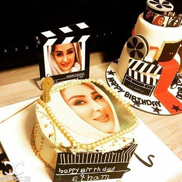 کیک تولد الهام حمیدی