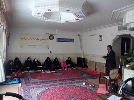 جلسه آموزشی ستاد خواهران کنگره شهداء شهر قهدریجان