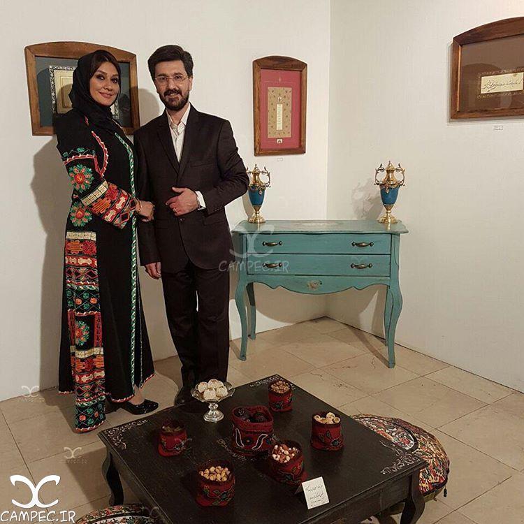 امیر حسین مدرس با همسرش بهار بهاردوست