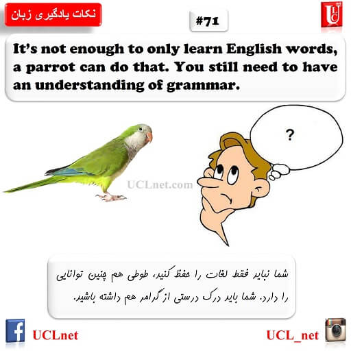 نکته هفتاد و یکم یادگیری زبان - English Learning Tips #71