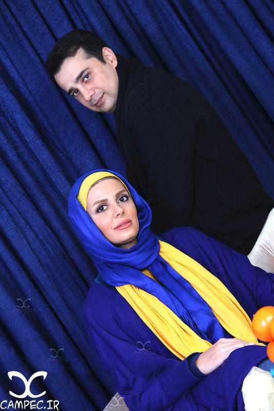 سپند امیرسلیمانی با همسرش مارال آراسته