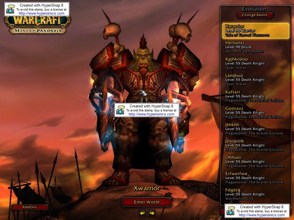 فروش هیرو Warrior - Xwarrior - سرور Wowzonegc.ir