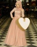 مدل لباس مجلسی اسلامی با تور گیپور