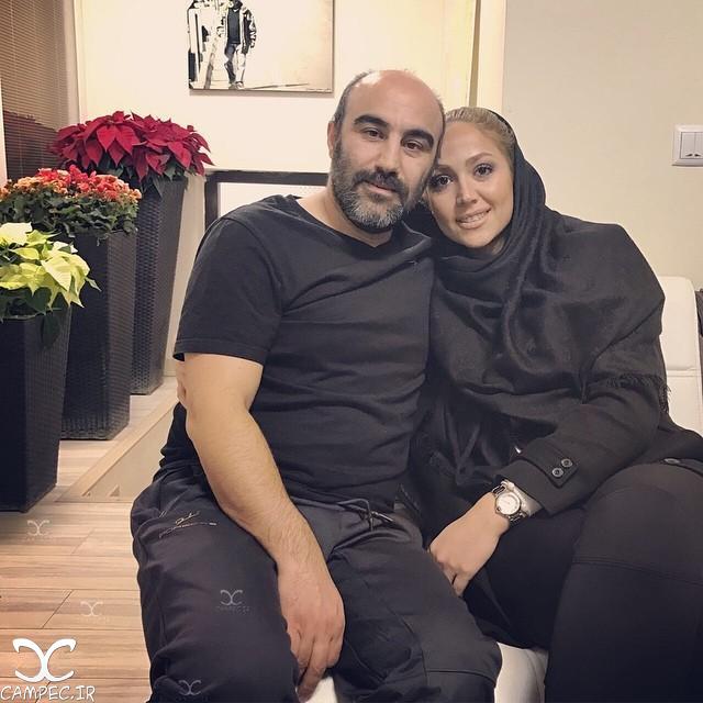 عکس محسن تنابنده با همسرش روشنک گلپا