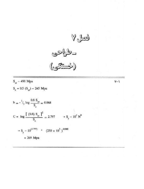 نمونه سوالات تستی و تشریحی حل تمرینات دانلود کتاب طراحی اجزا شیگلی pdf