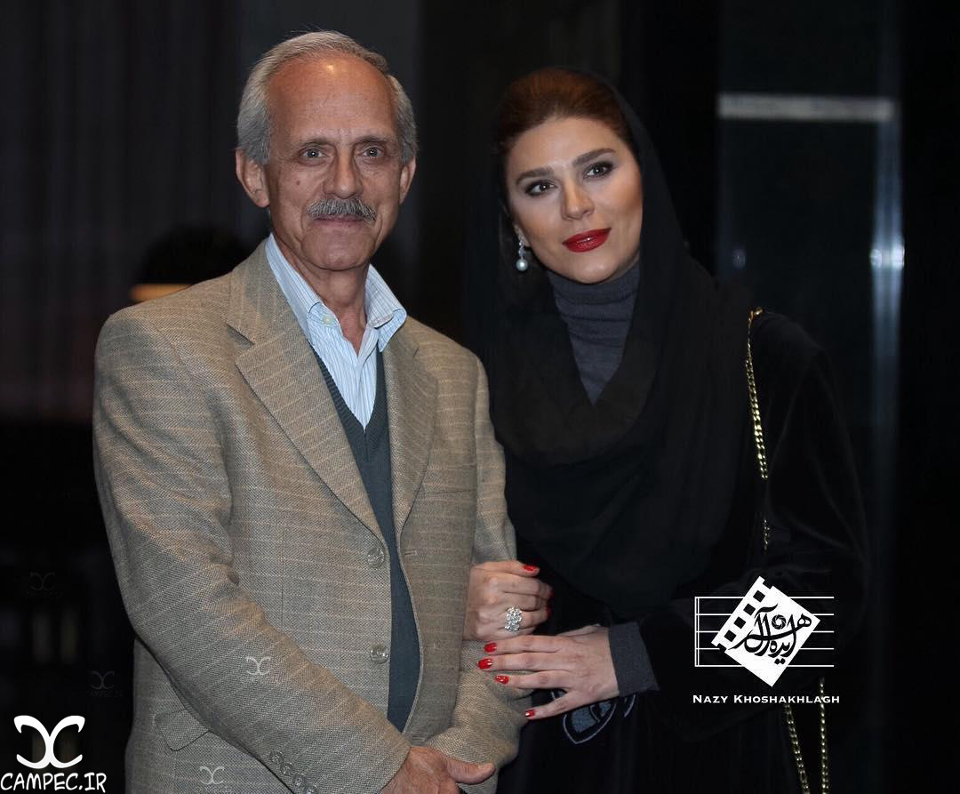 سحر دولتشاهی با پدرش در اکران خصوصی فیلم وارونگی