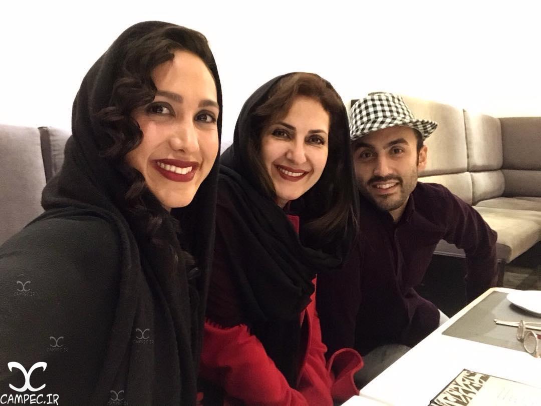 فاطمه گودرزی با پسر و دخترش در شب یلدا 95