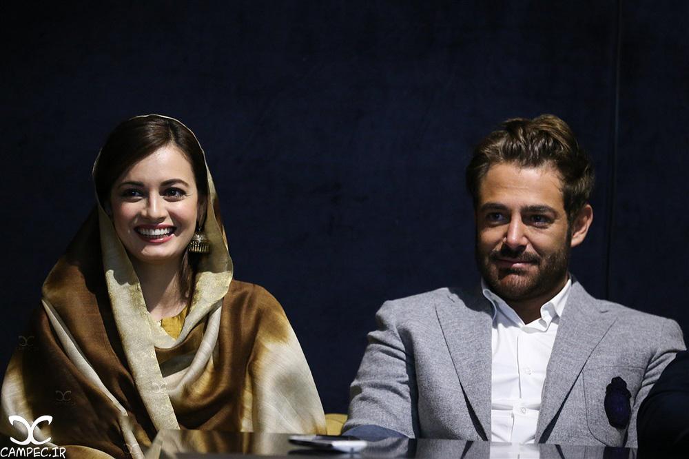 رضا گلزار و دیا میرزا در نشست فیلم سلام بمبئی