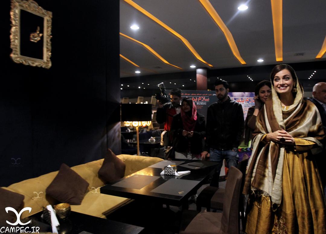 دیا میرزا در نشست خبری فیلم سلام بمبئی
