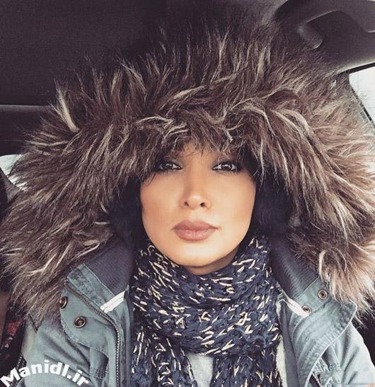 عکس روناک یونسی در سرمای 15- درجه کانادا