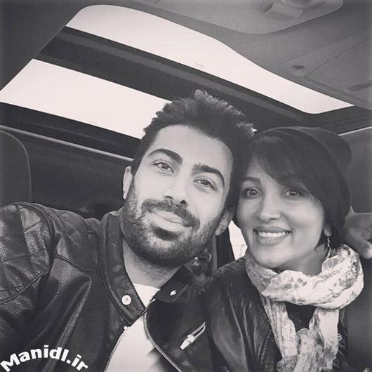 سلفی روناک یونسی و همسرش محسن میری