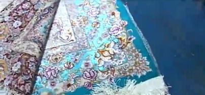 پهن شدن فرش دستباف در قزوین