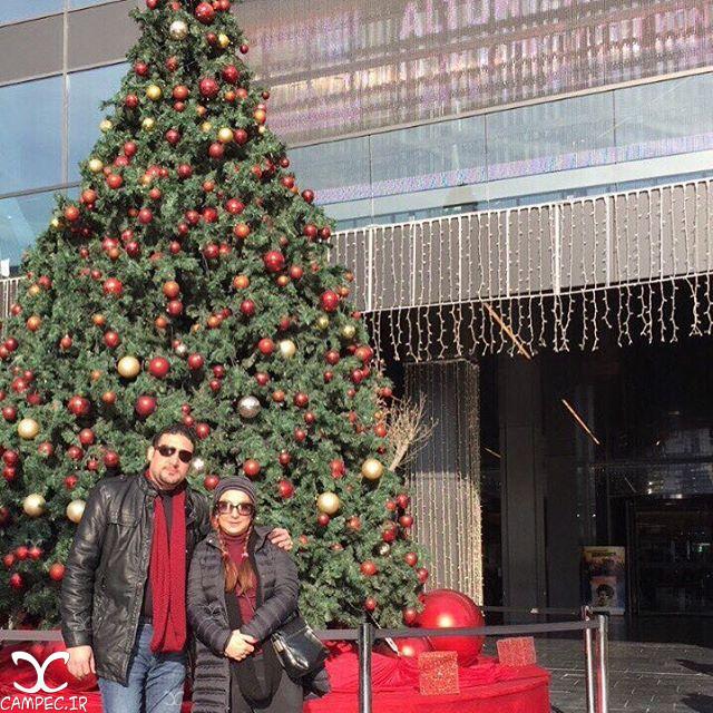 لاله صبوری و همسرش در کریسمس 2017