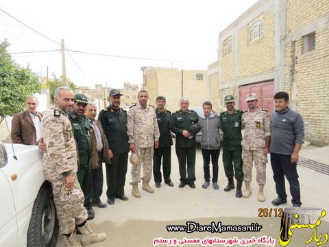 دیدار فرمانده توپخانه نیروی زمینی سپاه با خانواده شهید صفدر حیدری