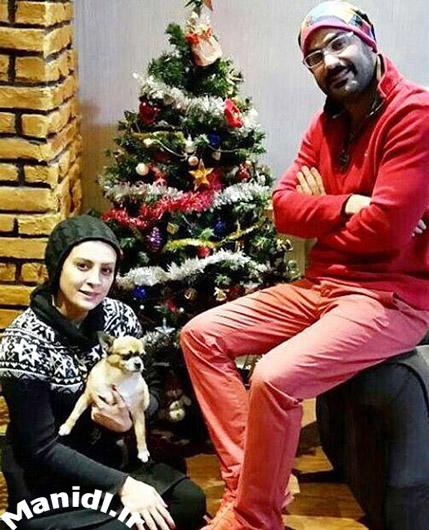 حدیثه تهرانی و همسرش در کریسمس 2017
