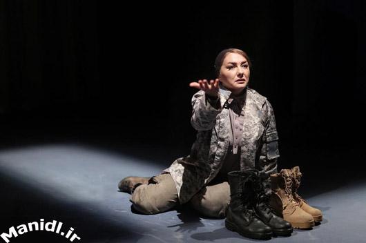 عکس هانیه توسلی در تئاتر
