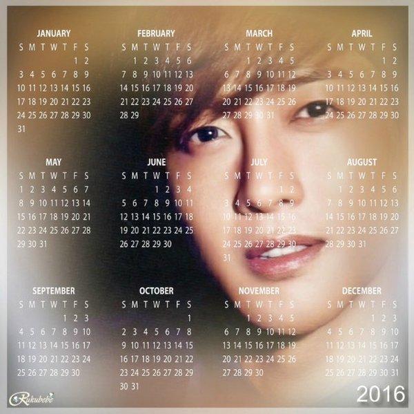 Kim Hyun Joong 2016 Calendar
