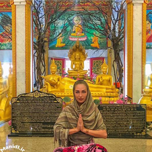 عکس جدید طلا گلزار در تایلند با حجاب