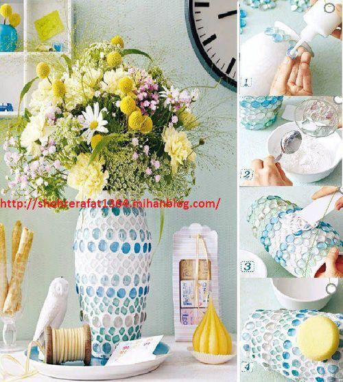 ایده خلاقانه برای تغییر شکل گلدان کهنه و قدیمی به گلدان شیک و زیبا