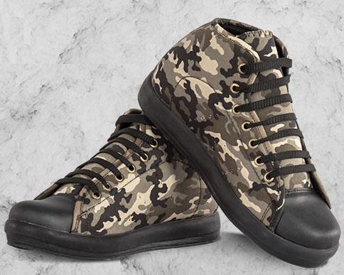 کفش دخترانه طرح ارتشی