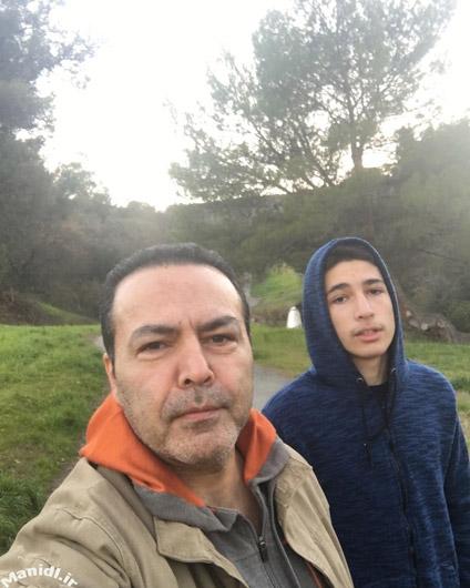 عکس فریبرز عرب نیا با پسرش جانیار