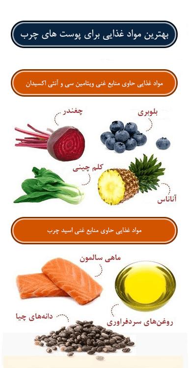 بهترین مواد غذایی برای پوست های چرب