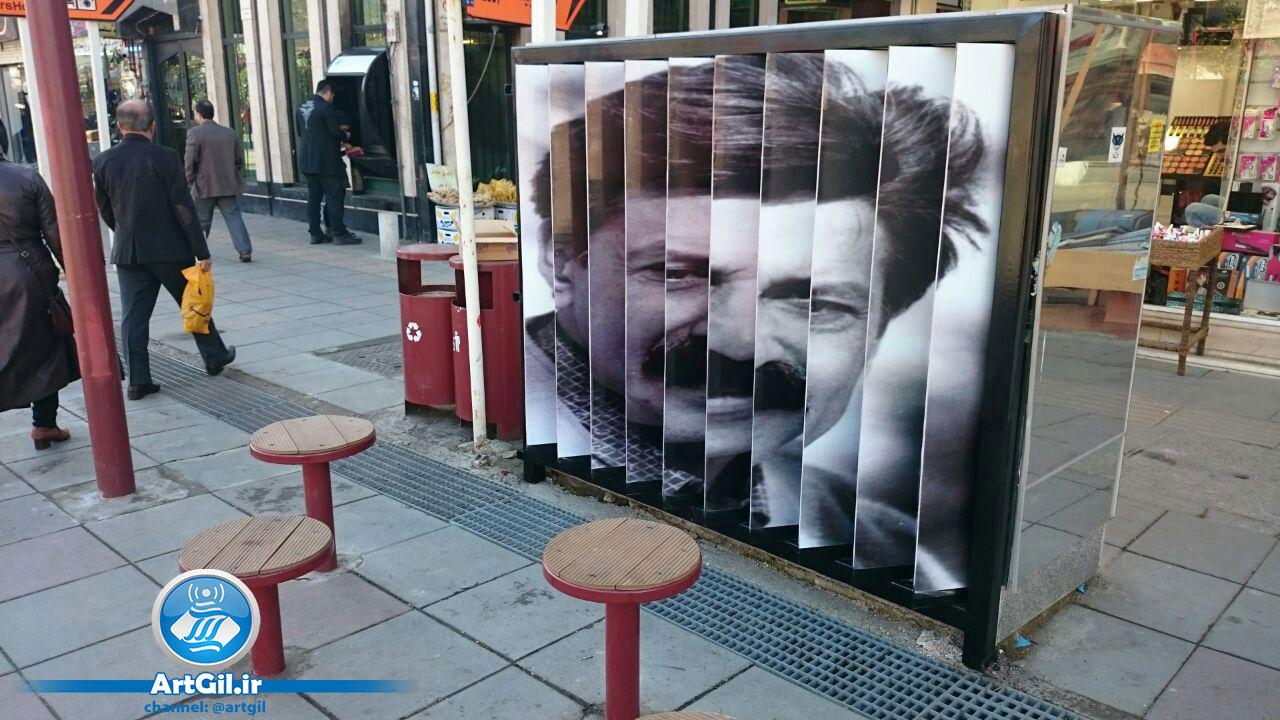 کار هنری از منطقه ۲ شهرداری رشت بر روی کافو های برق