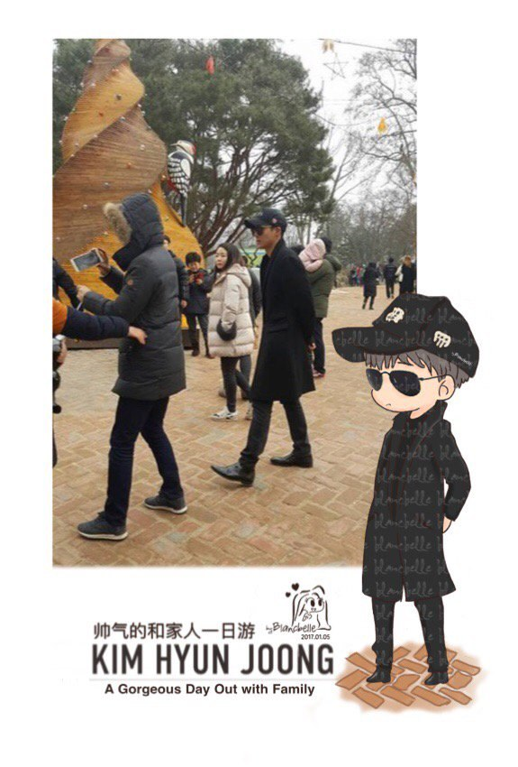 [blancbelle Fanart] Kim Hyun Joong - a Gorgeous day out with family [2017.01.05]